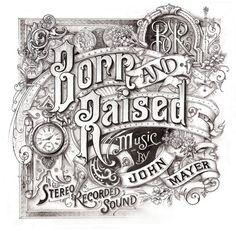 Born and Raised Album Cover for John Mayer by Davi Smith