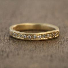 Yasuko Azuma 12 Diamond Ring Matte finish 18k yellow gold with 12 diamonds $1,365.00