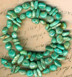 """Mexican Campo Frio TURQUOISE Beads Strand~Natural Color~Genuine~7-9mm Mexico16"""""""