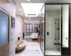 black framed shower door
