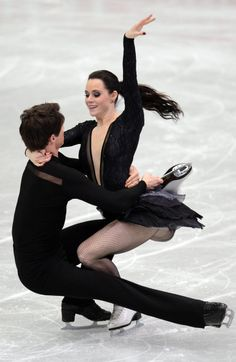 Tessa Virtue and Scott Moir of Canada skate in the Ice Dance Free Dance during the 2013 ISU Four Continents Figure Skating Championships.