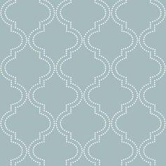 WallPOPs 30.75 sq. ft. Slate Blue Quatrefoil Peel and Stick Wallpaper-NU1826 - The Home Depot