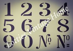 A4 Stencil NUMBER SET Vintage Font ❤️ DIY French Furniture Shabby Chic Makeovers French Furniture, Shabby Chic Furniture, Industrial Furniture, Furniture Design, Vintage Fonts, Vintage Patterns, Number Fonts, Number Stencils, Diy Home Improvement