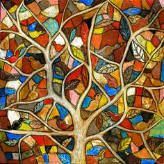 folk art tree