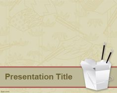 free powerpoint template - Chinese food background graphics