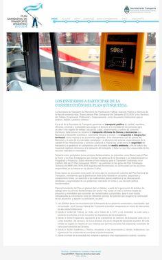 Plan Quinquenal de Transporte Nacional, sitio web de lanzamiento del plan - Offline - - Diseño y Desarrollo: http://integralmedia.com.ar
