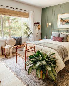 Bedroom Green, Cozy Bedroom, Home Decor Bedroom, Bedroom Ideas, Master Bedroom, Ikea Bedroom Design, Garden Bedroom, Bedroom Colors, Bedroom Apartment
