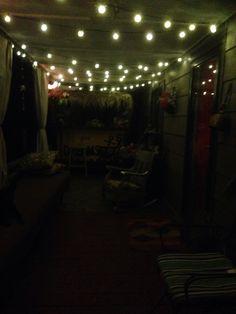 Outdoor lights lake house