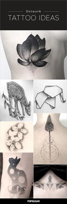 We'll just say it: these are the most impressive tattoos we've ever seen. Dotwork tattoos are comprised entirely of dots and are often created by hand instead of machine, resulting in truly magnificent (though time-consuming) masterpieces. Dream Tattoos, Future Tattoos, Love Tattoos, Body Art Tattoos, Small Tattoos, Tattoos For Women, Tatoos, Classy Tattoos, Pretty Tattoos