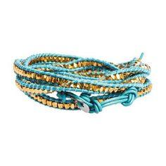 5 Layer Wrap Bracelet Turquoise