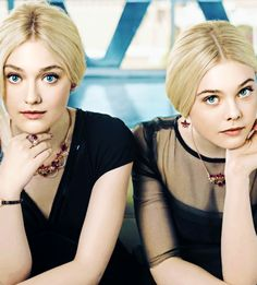 Dakota and Elle Fanning - they look almost like twins in this picture!