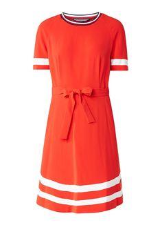 63e5e7e5525 Tommy Hilfiger Jillian A-lijn jurk met streepdetails • de Bijenkorf