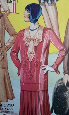 Color-Flapper-Style-1929-womens-dress-fasion-catalog-page-silk-crepe