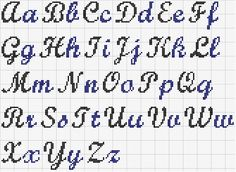 Pix For > Cross Stitch Cursive Alphabet