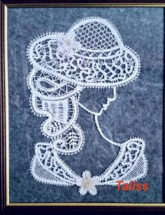 This painting was handmade pillow with cotton. This is a drawing made by me, I'm not exactly an artist but I like drawing and knit pillow Bobbin Lace Patterns, Crochet Patterns, Lace Art, Knit Pillow, Parchment Craft, Point Lace, Handmade Pillows, Irish Crochet, Fiber Art