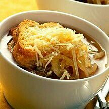 French Onion Soup pts) - Recipes for Weight Watchers Skinny Recipes, Ww Recipes, Cooking Recipes, Healthy Recipes, Healthy Soup, Healthy Eating, Healthy Lunches, Weigt Watchers, Onion Soup Recipes