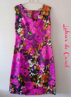 Dress Vintage 70s Retro por LatourdeCarol en Etsy,
