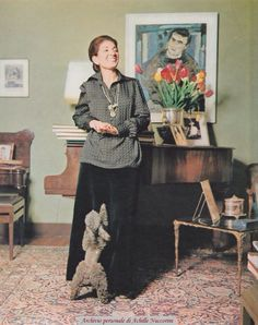CALLAS WITH POODLE