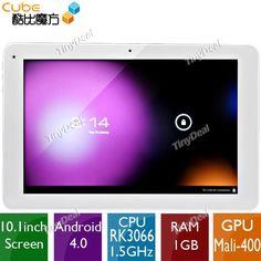 """(CUBE) U30GT 10.1"""" IPS Screen Android 4.0 16GB Dual-core Tablet PC w Bluetooth/HDMI(CPU RK3066 RAM 1GB GPU Mali-400 MP) L-116978"""