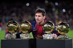 messi four ballon d'or!