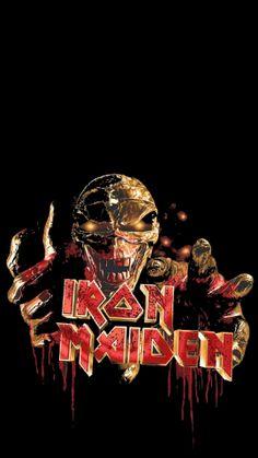 Iron Maiden Glam Metal, Nu Metal, Heavy Metal Music, Heavy Metal Bands, Iron Maiden Mascot, Iron Maiden Posters, Eddie The Head, Grim Reaper Art, Iron Maiden Band
