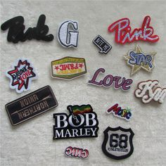 various kinds different type letter cartoon hot melt adhesive applique embroidery patch DIY clothing accessory C681-C807 #clothing,#shoes,#jewelry,#women,#men,#hats,#watches,#belts,#fashion,#style