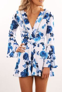 Search Playsuit China Blue