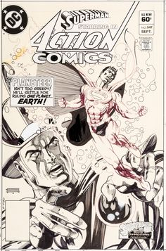 Gil Kane Action #547 Cover Superman Original Art (DC, 1983). The | LotID #86004 | Heritage Auctions