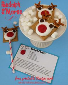 Left on Peninsula Road: Print It: Rudolph S'Mores Recipe Card