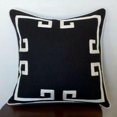 20 Greek Key Aegean Fretwork Black and Off White
