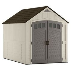 Suncast Blow Molded 7 ft. W x 10 ft. D Plastic Storage Shed  sc 1 st  Pinterest & Suncast Glidetop 6 ft. 8 in. x 4 ft. 10 in. Resin Storage Shed ...