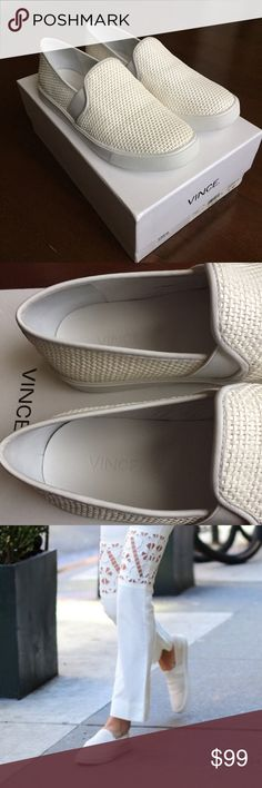 NWT & box Vince 'Preston' slip-on sneaker Very comfortable and stylish. Currently still selling Nordstrom stores and online. This is a must have for Spring and Summer. So cute but I have another pair from different designer that will lasts me a while. Vince Shoes