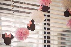 Ideas for baby girl birthday party ideas decoration minnie mouse Minnie Mouse Theme Party, Minnie Mouse Birthday Decorations, Theme Mickey, Minnie Mouse 1st Birthday, Minnie Mouse Baby Shower, Girl 2nd Birthday, Mickey Party, 2nd Birthday Parties, Mouse Parties