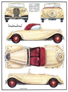 Citroen Traction Avant 11CV Cabrio, 1939 - Illustration: Gordon Davies