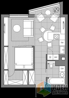 Перепланировка однушки в двушку, квартира с гардеробной