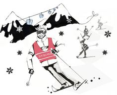 Illustration Skilehrer Editorial Glamour
