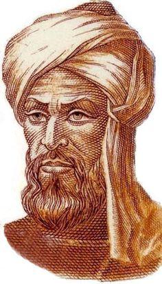 """Abu Abdallah M. Ibn Musa al-Jwrizmi (780-835). Gran matemático que trabajó en la corte del califa Al-Mamun en Bagdad, en la recién creada """"Casa de la sabiduría"""". Escribió importantes tratados de álgebra, aritmética, geografía o astronomía. A su nombre se debe la palabra """"algoritmo""""."""