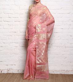 Pink Dhakai Jamdani Saree