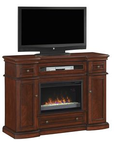 ClassicFlame 26MM2490-C233 Montgomery TV Stand for TVs up to 60', Vintage Cherry (Electric Fireplace Insert sold separately) ** You can get additional details at the image link. (This is an affiliate link and I receive a commission for the sales)