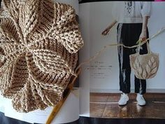Today we are going to learn how to crochet a Leaf stitch bag. I found this amazing video tutorial and got really excited to try. Crochet Cross, Crochet Baby, Knit Crochet, Crochet Handbags, Crochet Purses, Crochet Stitches, Crochet Patterns, Crochet Leaves, Crochet Videos