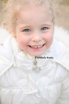 Lana, Beautiful Serbian kid with blue eyes!