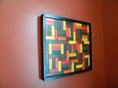 Upcycled Wood Wall ArtEarthy colors by AtticJoys1 on Etsy, $42.00