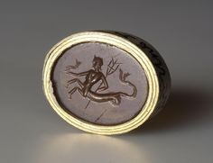 Intaglio. Triton with a Trident in His Hands Ancient Rome, 1st-2nd century