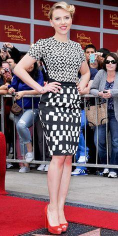 Modest Fashion--Scarlett Johannson This makes me like her! :)