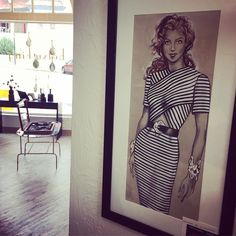 How much do I love the amazing artwork by Rosemary Burke hanging in the shop! Gorgeous drawings of 1980's fab fashion (like this stunning Oscar de la Renta). And they're all for sale.  #betsykingshoes #paseoartsdistrict #artmakeseverythingbetter #fashionismypassion