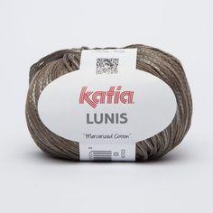 Hilo de Katia mezcla de algodón mercerizado y poliamida con un efecto brillante de color marrón medio