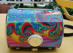 Little Earth Metallic License Plate Novelty Purse Bag. Psychedelic colors. in Handbags & Purses | eBay