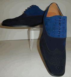 Mens Shades of Blue Stylish Spectator Fashion Dress Shoes Antonio Cerrelli 6566 Men Dress, Dress Shoes, Shades Of Blue, Vintage Looks, Oxford Shoes, Navy Blue, Lace Up, Brand New, Stylish