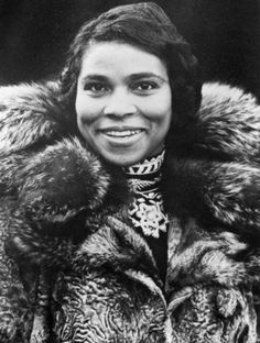 Marian Anderson ~ In 1939, the DAR refused to let Anderson sing in DC's Constitution Hall because she was black. First Lady Eleanor Roosevelt resigned from the DAR, and her husband's administration arranged an outdoor concert at the Lincoln Memorial for a crowd of 75,000 and millions of radio listeners. Anderson was the first African American to sing with the Metropolitan Opera, and in 1958 became a delegate to the United Nations.