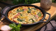 Ham and spinach quiche with sweet potato base - Pete Evans